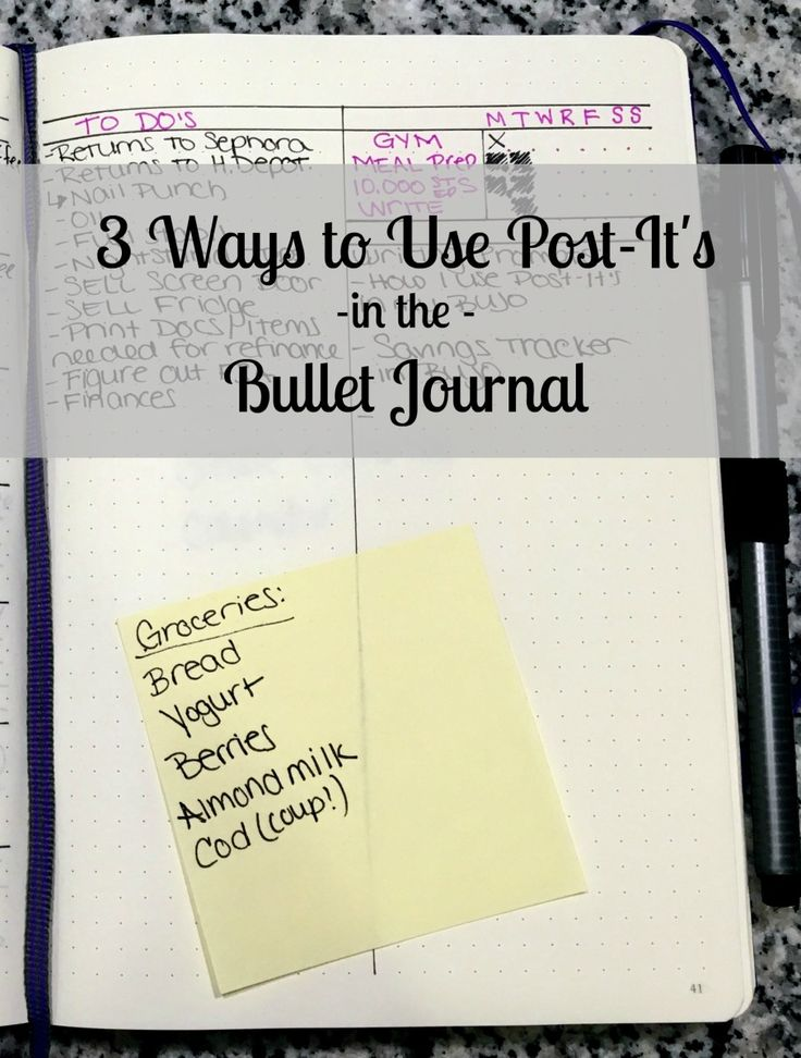 3 Ways to Use Post-It's in the Bullet Journal!