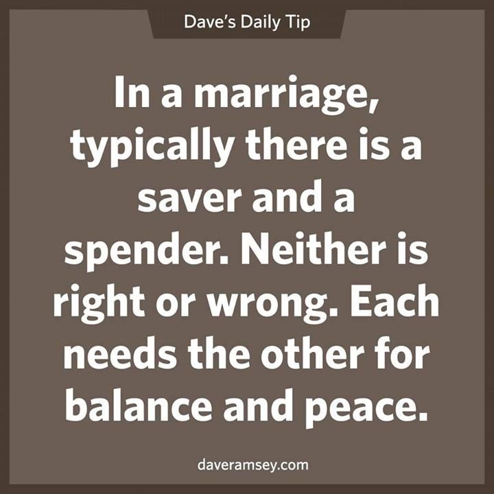 I'm the saver, hubby is the spender. We are in the middle of learning to balance each other.