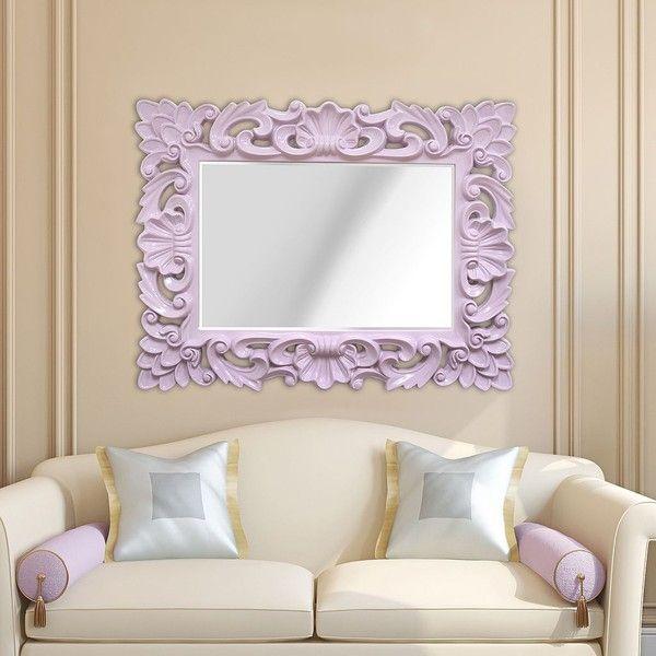 Stratton Home Decor Baroque Wall Mirror : Stratton home decor elegant ornate wall mirror purple