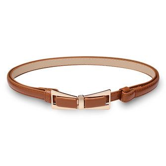 98CM Womens Belt Candy Color Patent Leather Bowknot Buckle Strip at Banggood