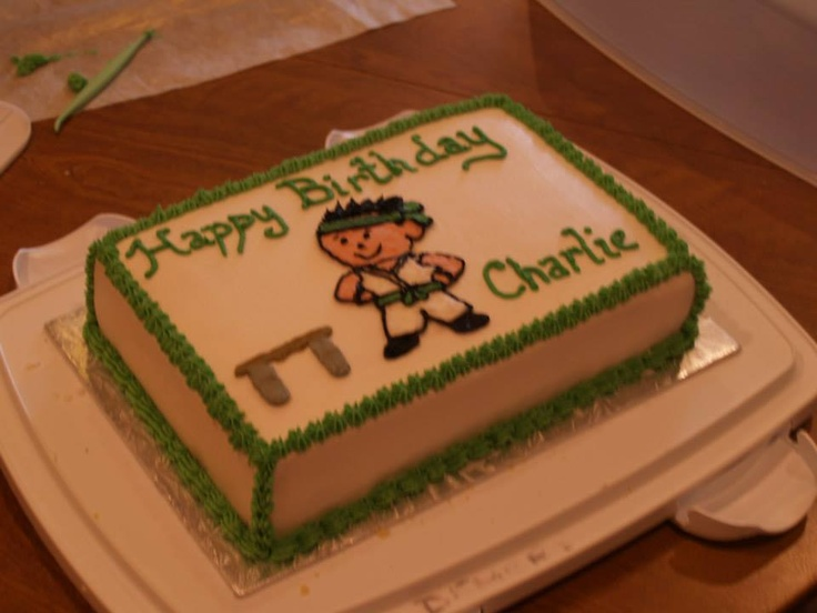 Vanilla cake with a vanilla filling - Karate theme