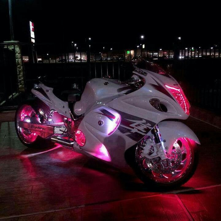 Neon Pink Lights on this Street Bike....T-Mobile Commercial Come to Life