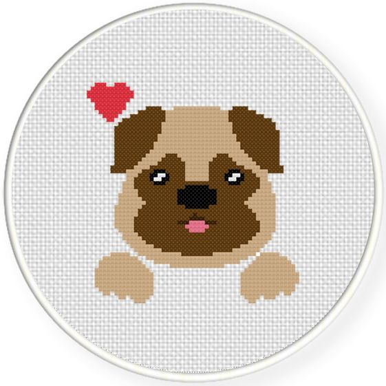 FREE for September 20th 2015 Only - Loving Dog Cross Stitch Pattern