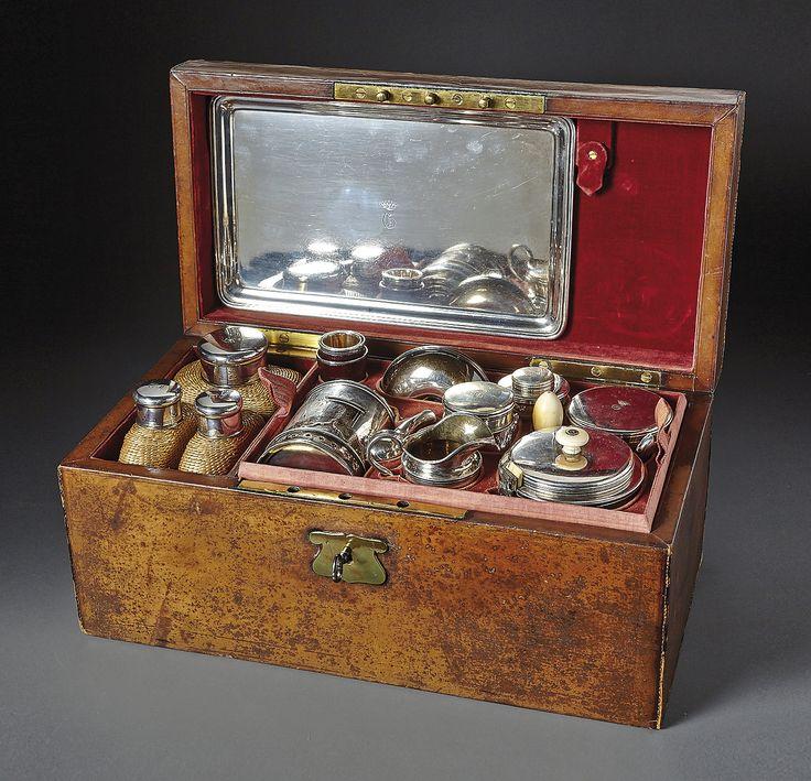 Johann Bernhard Hertz (Master 1834-1855) 38 pcs. Travel Service set in original box.  St. Petersburg,1847-55.