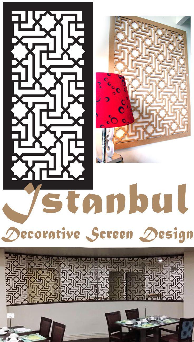 Laser cut screen design 'Istanbul' by QAQ Decorative Screens & Panels. Manufactured in Melbourne, Australia.