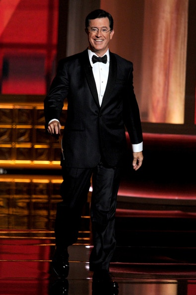 Stephen Colbert on Stage at the 64th Annual Primetime Emmy Awards. Image: Kevin Winter | Zimbio: Stephen Colbert, Primetim Emmy, Annual Primetim, 64Th Annual, Emmy Awards, Kevin Winter,  Suits Of Clothing