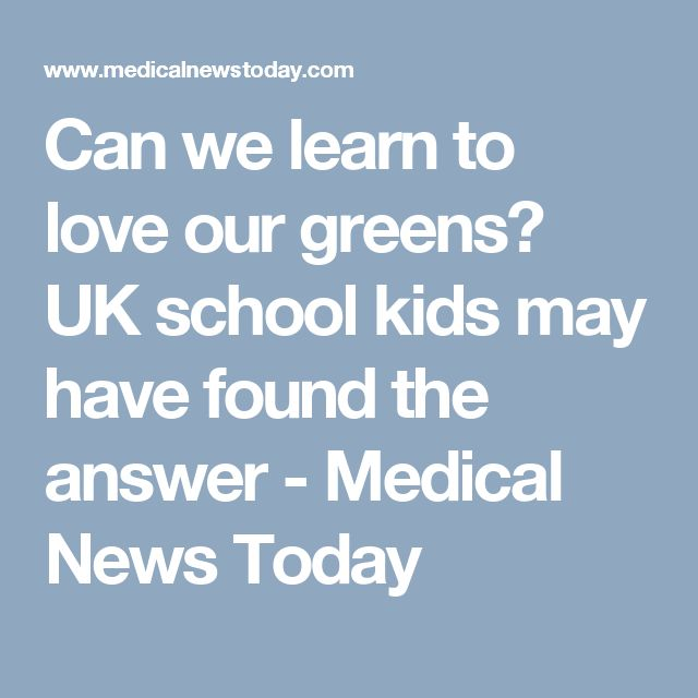 Can we learn to love our greens? UK school kids may have found the answer - Medical News Today
