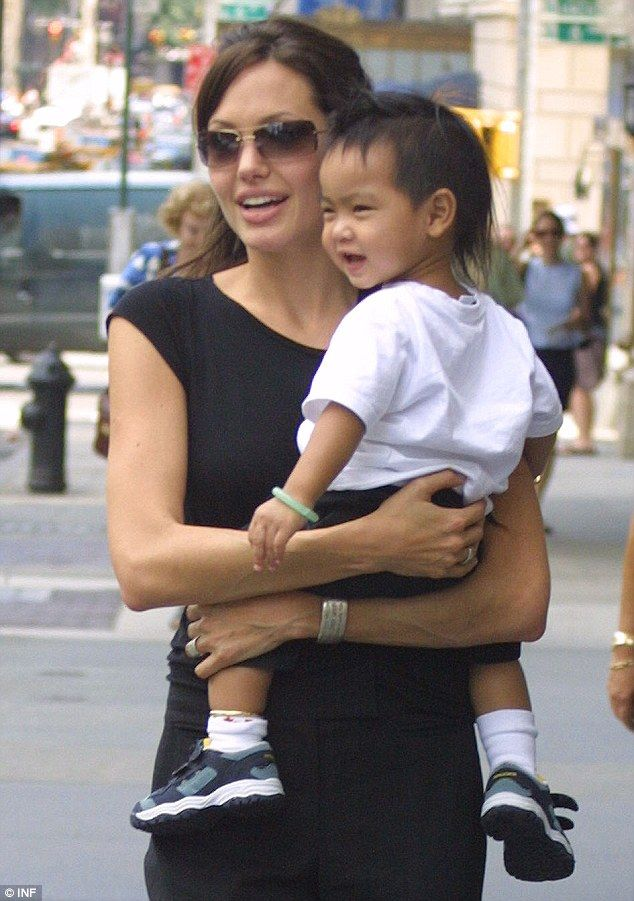 Mother and son: Angelina and Maddox in 2003 shortly after she adopted the boy from Western Cambodia