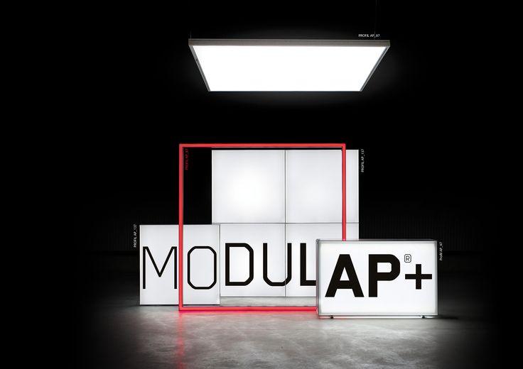 LIGHTWALL, LIGHTBOX, FRAME, TOP LIGHT Modulap, das modulare System für visuelle…