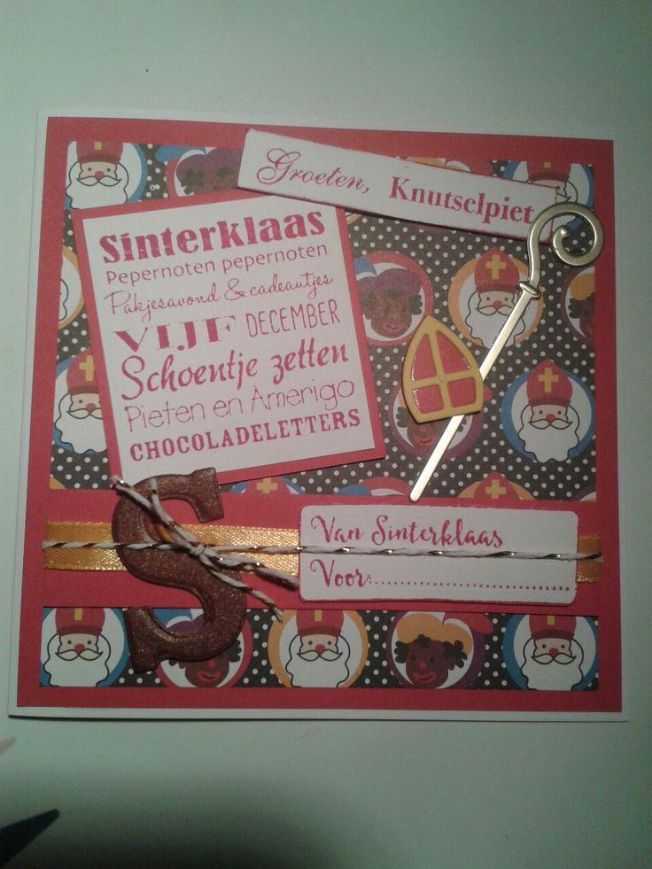 Sinterklaaskaart gemaakt voor de kleinkinderen...
