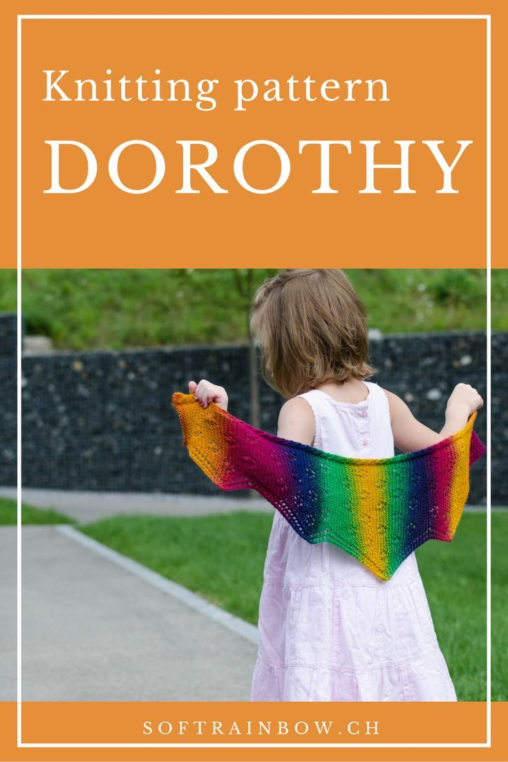 Dorothy Shawl knitting pattern - with short rows, and lace on garter background. The cable edging adds more interest to the design. The pattern is available in 3 sizes, click and choose yours!