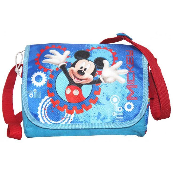 Sac bandoulière à rabat Mickey bleu  Impression directe sur le rabat  Dimensions: 20 cm x 15 x 7 cm