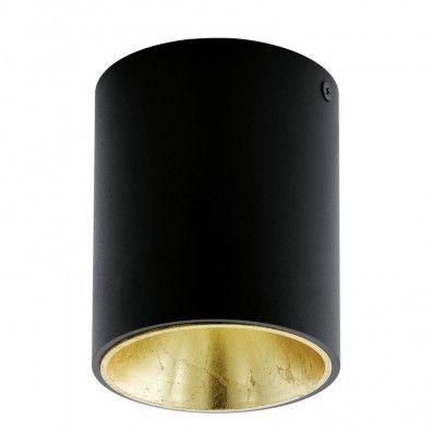 EGLO POLASSO LED Aufbauleuchte, rund, 100mm, schwarz, gold                                                                                                                                                                                 Mehr