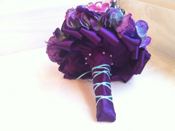 How To Wrap Bridal Bouquet With Ribbon : Best images about bouquet wrapping on the