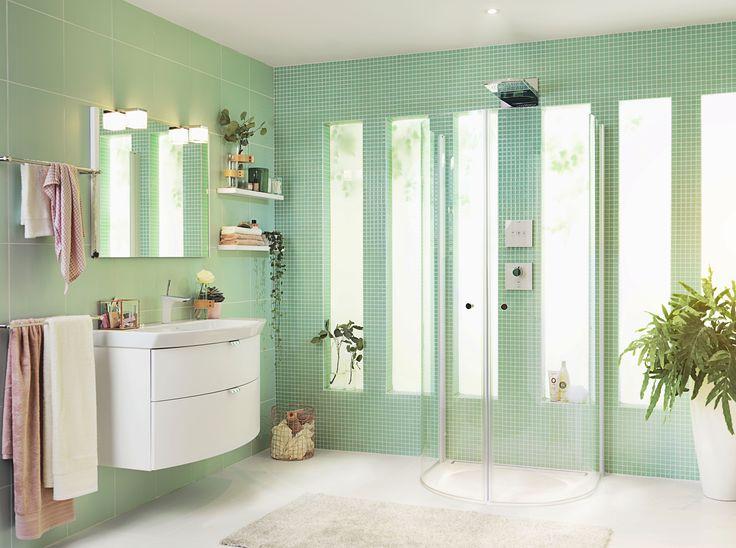 Skagen U - Den flexibla duschen. Oavsett hur du väljer att placera Skagen U behåller den alltid en fina runda formen.