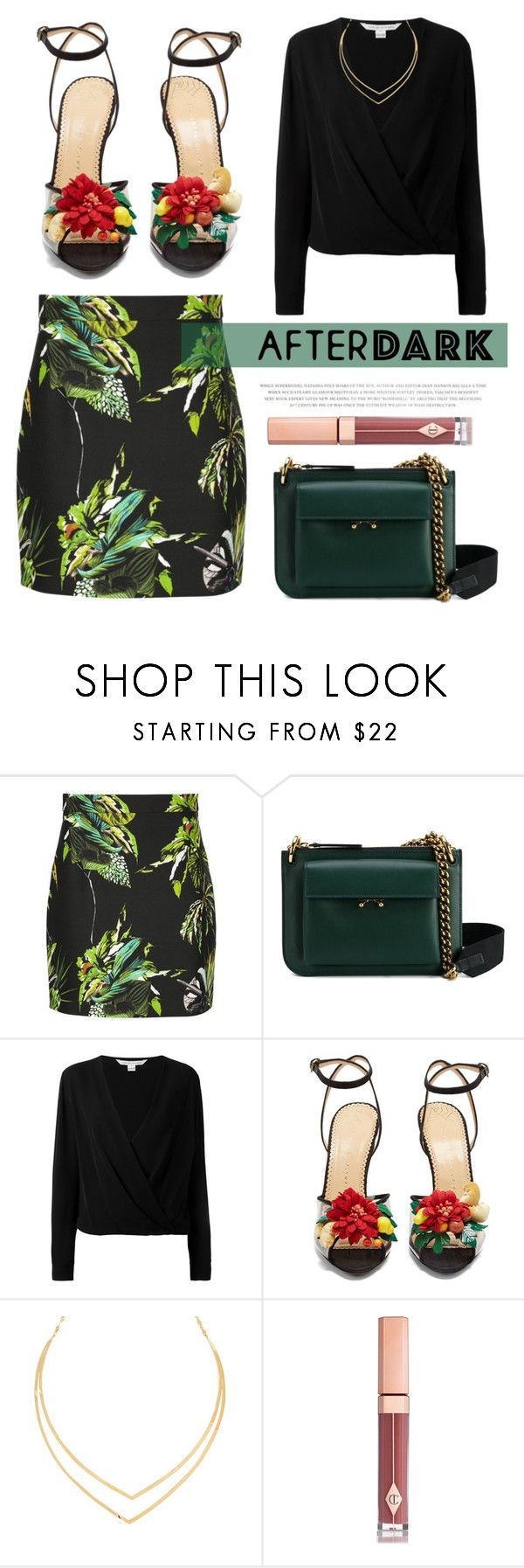 """Copacabana"" by blueyed ❤ liked on Polyvore featuring Proenza Schouler, Marni, Diane Von Furstenberg, Charlotte Olympia, Lana and Charlotte Tilbury"