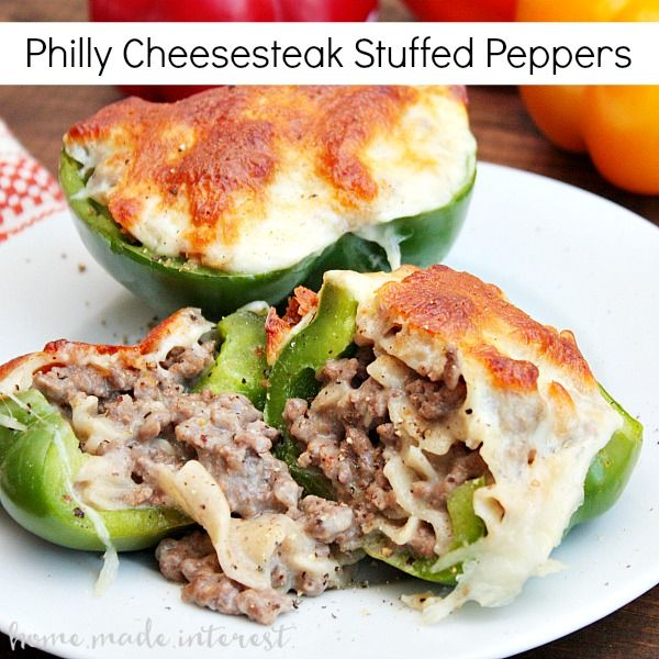 I love Philly Cheesesteak and these stuffed Philly Cheesesteak peppers are an aw …   – Recipes