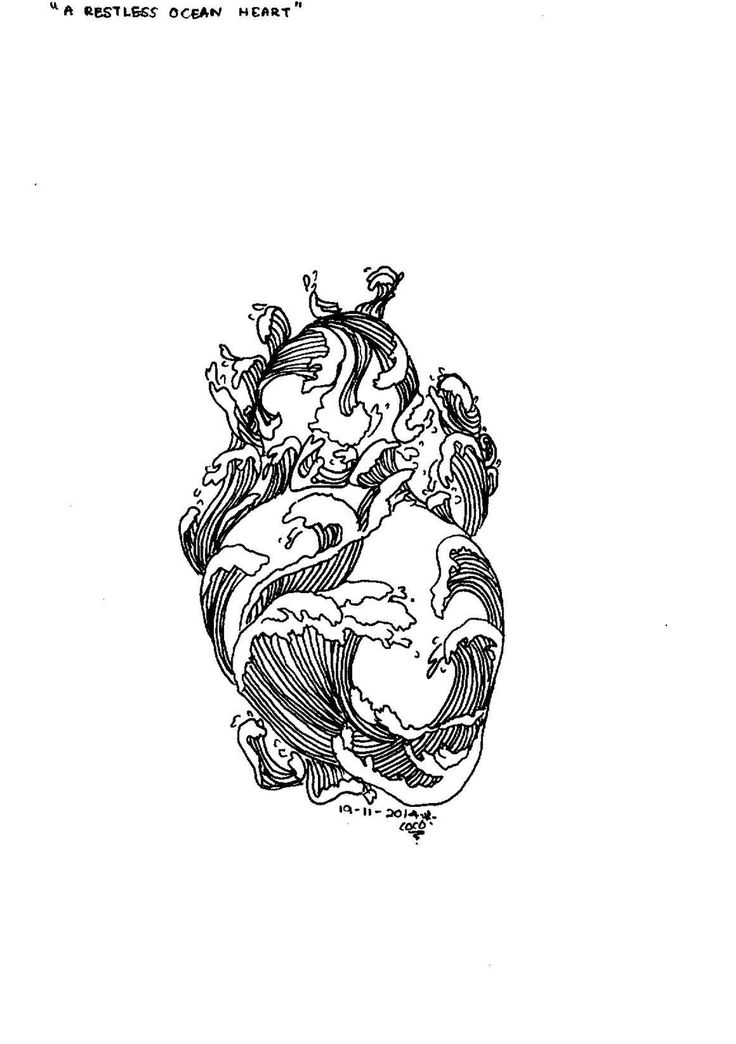 A restless ocean heart
