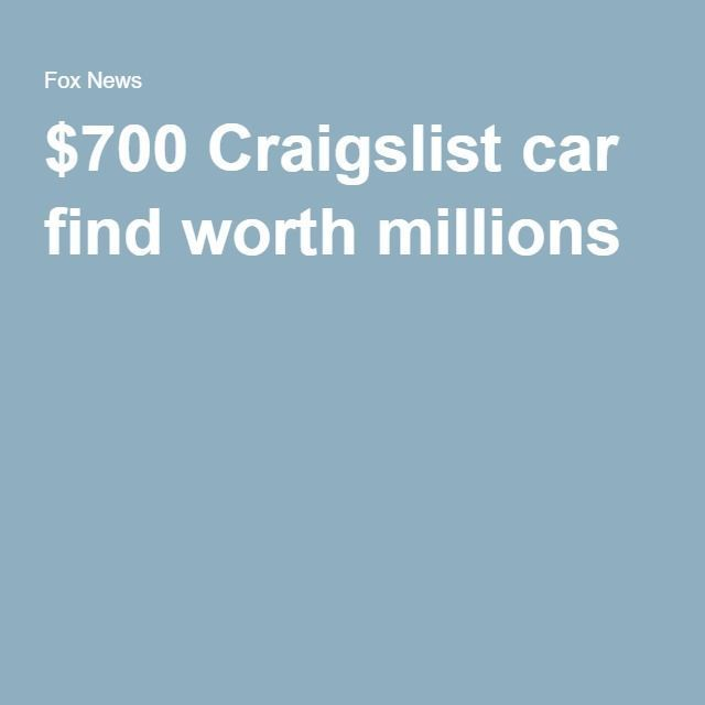 cool nice $700 Craigslist car find worth millions  Car Hacks & Tips Check more at aut...  Cars World Check more at http://autoboard.pro/2017/2017/02/25/nice-700-craigslist-car-find-worth-millions-car-hacks-tips-check-more-at-aut-cars-world/