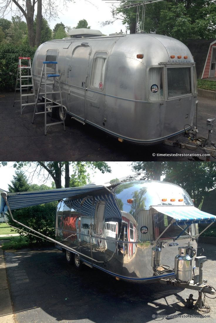 Which would you rather tow? 1980 Airstream Caravelle polished by Time Tested Restorations.