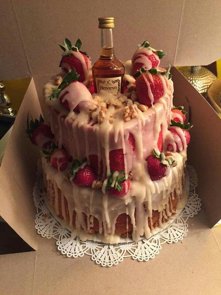 Strawberry Drunk Cake