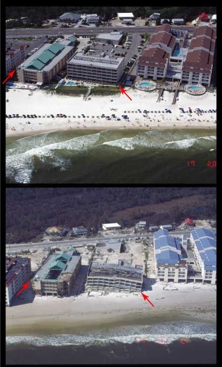 Hurricane Ivan photographs..before and after.