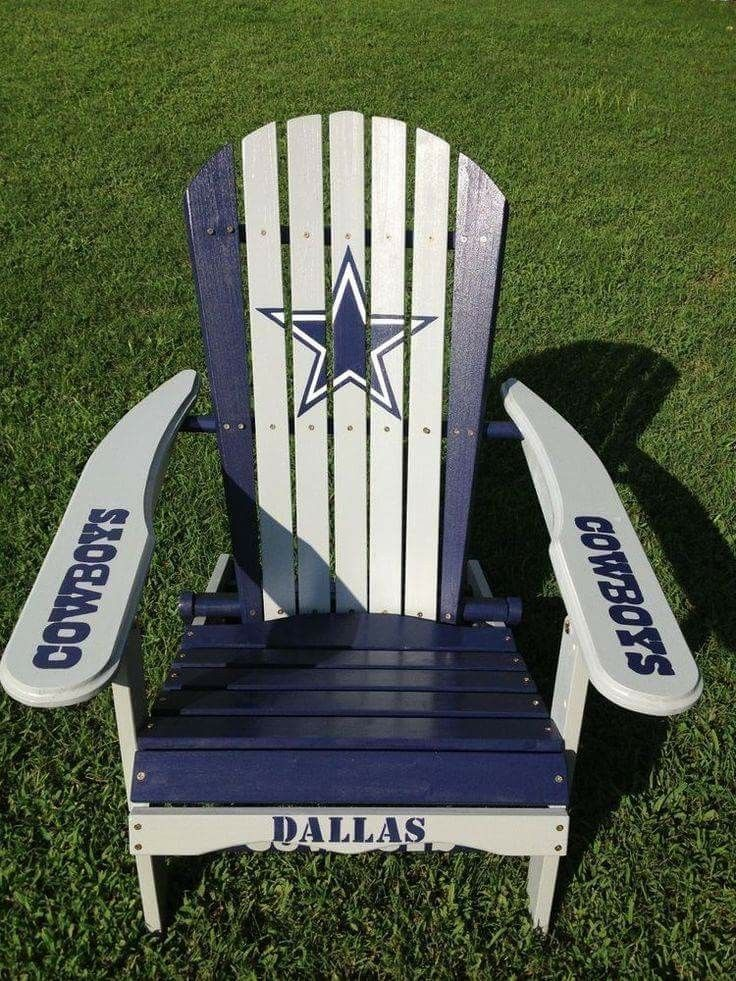Hand Painted Dallas Cowboys Folding Adirondack Chair *nfl Football  Tailgating    WANT! Obviously Packers Though.