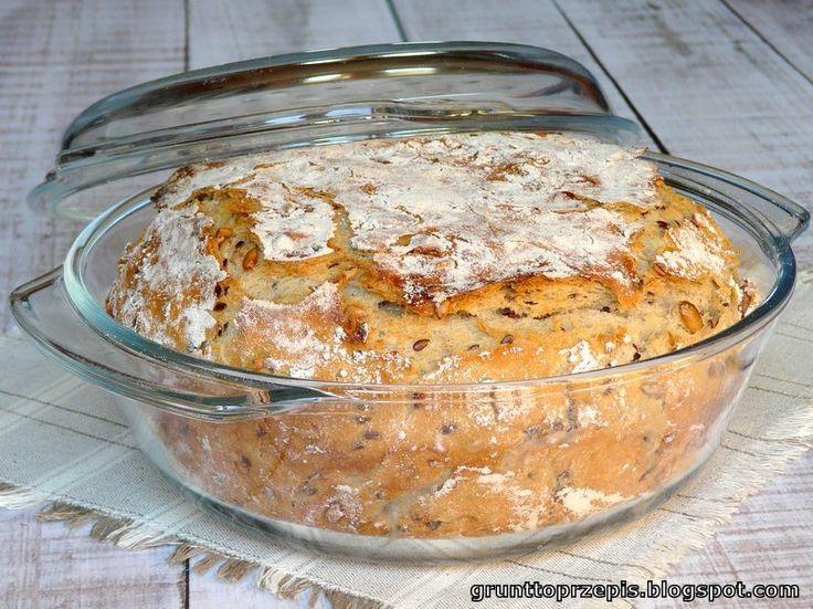chleb pieczony w naczyniu żaroodpornym