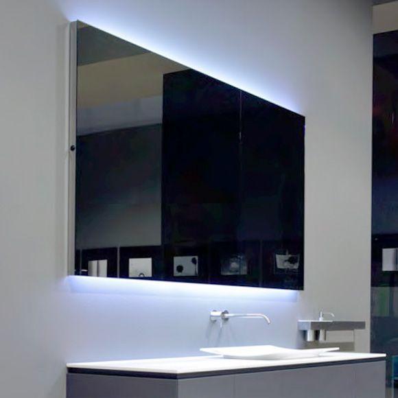 Spiegelschrank Flach Bad : antoniolupi FLASH100 Spiegel mit polierter Kante und weißer LED