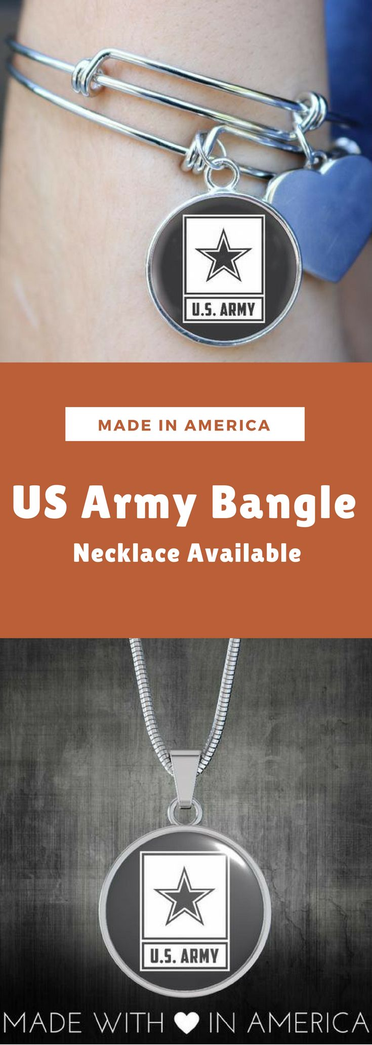 US Army Bangle - Necklace
