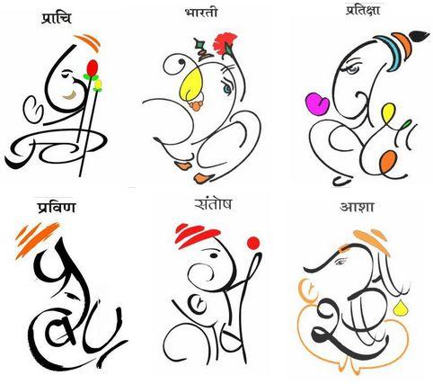 Pin On Ganpati Name Art