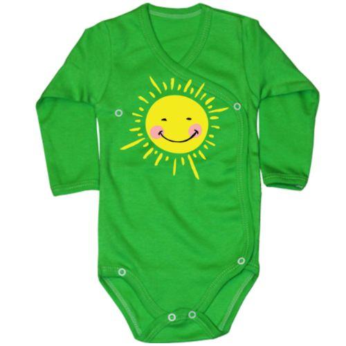 """Body bebe Soare    Bebelusul sau bebelusa care poarta acest body este centrul vietii (al sistemului solar in cazul nostru) parintilor sai. Lumea si Pamantul orbiteaza in jurul lui, pentru ca el sau ea este Soarele. Daca bebelusul este mai mare si are nevoie de un tricou, atunci puteti incerca varianta tricou """"Soare""""    Varianta pentru tatic sau mamica este, desigur, """"Tu esti soarele meu"""""""