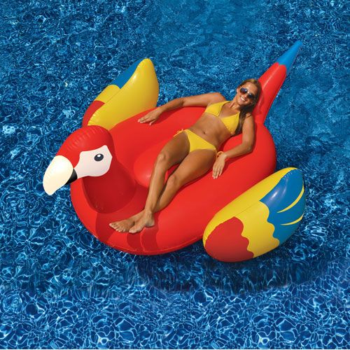 Giant Parrot Ride On Inflatable Pool Toy