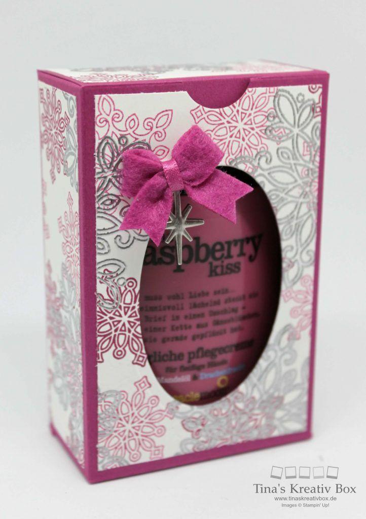 Geschenkbox für Mini Handcreme - mit Produkten von Stampin' Up!