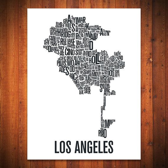 30 Best Los Angeles Images On Pinterest Beach Cities And Clothes: Los Angeles Map Print At Infoasik.co