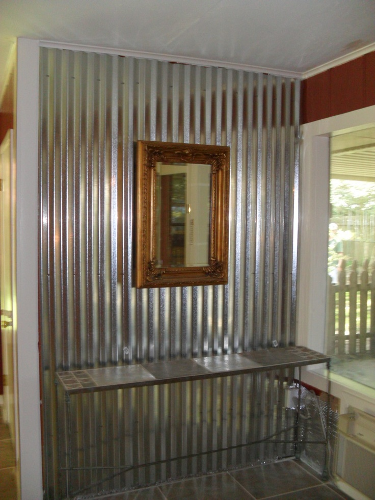 19 best tin walls images on pinterest sheet metal for Metal barn over basement