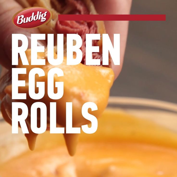 This spin on the Reuben will be a hit appetizer at your next party! Full recipe: http://buddig.com/recipes/Reuben-Egg-Rolls
