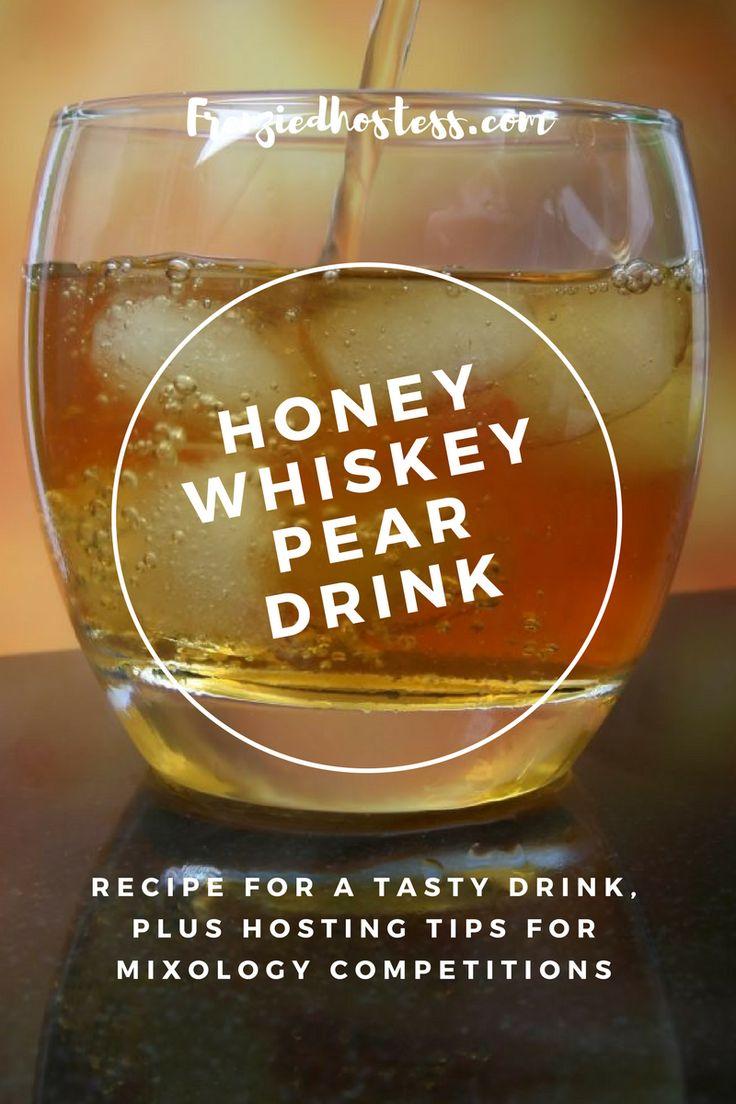 honey whiskey pear drink