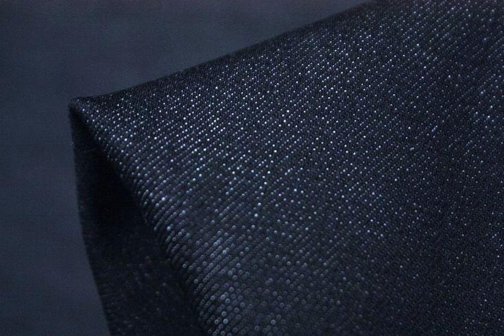 Prewashed Navy 98% Cotton 2% Elastane Stretch Denim. Imported from Japan…
