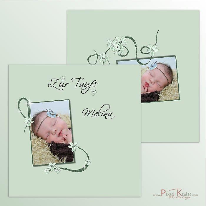 bedruckte Servietten zur Taufe mit Foto online bestellen