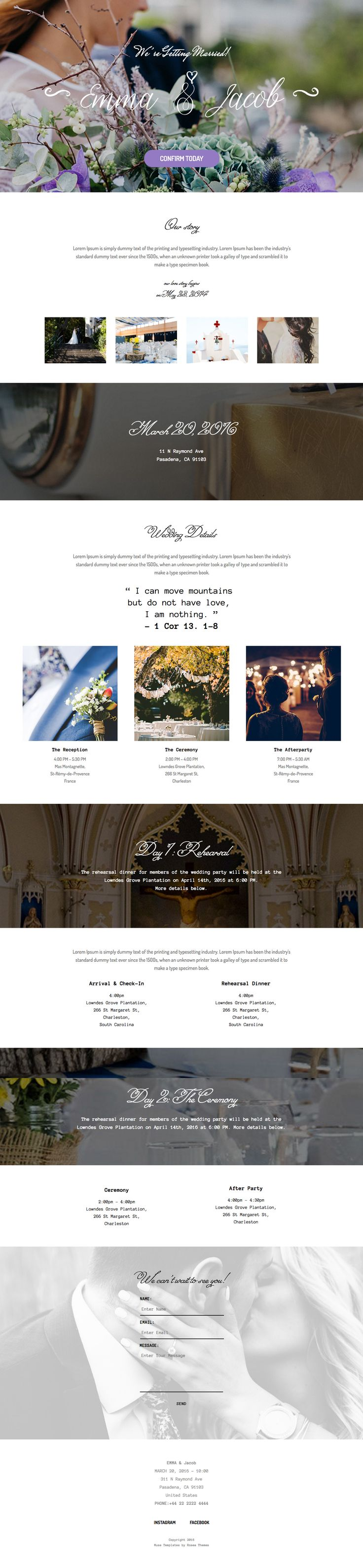 Wedding Template Adobe Muse #wedding #template #website #theme