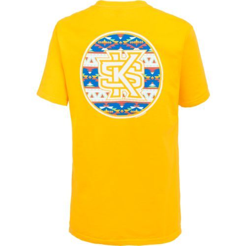 New World Graphics Women's Kennesaw State University Logo Aztec T-shirt (Gold, Size XX Large) - NCAA Licensed Product, NCAA Women's at Academy Sports