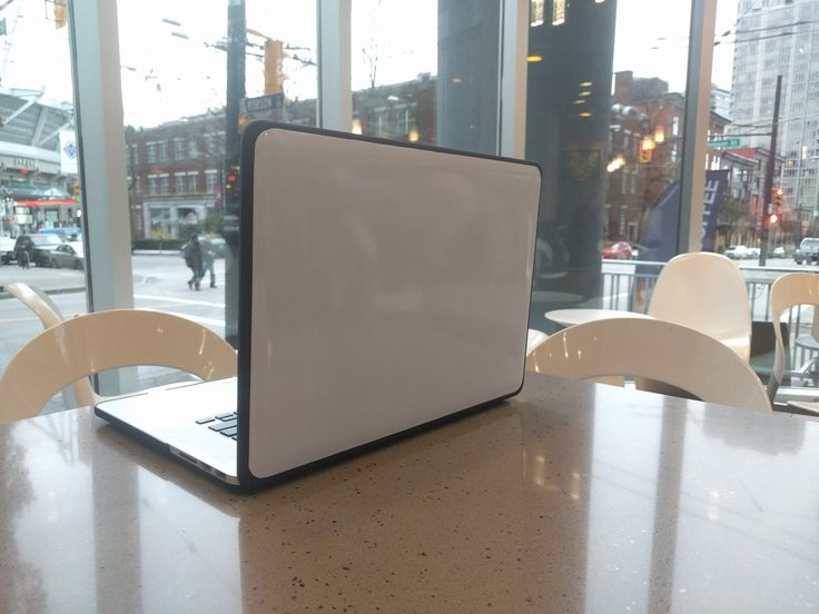 I made my laptop into a portable whiteboard