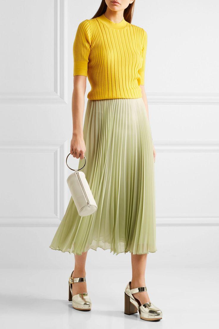 Pleated chiffon midi skirt | MAISON MARGIELA | Sale up to 70% off | THE OUTNET