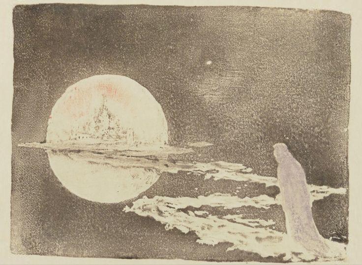 songesoleil:Le palais des rêves.The Palace of Dreams.Estampe.  Art by Pierre Roche.(1855-1922). Graveur. Gypsographie de Pierre Roche.