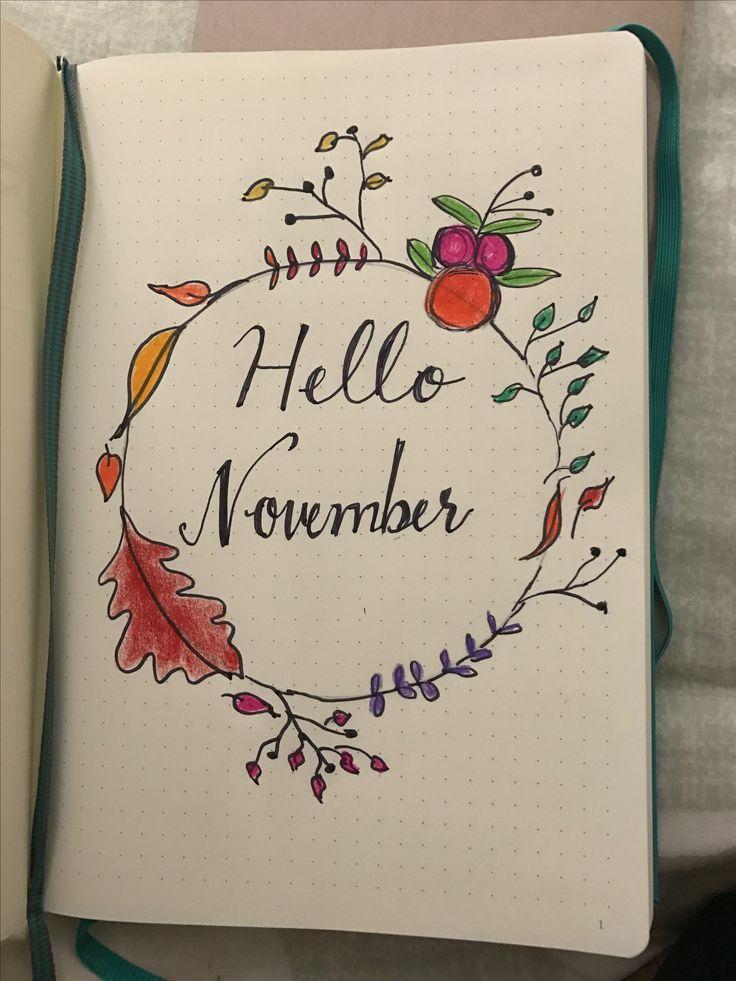Hello November Bullet Journal  #Caliquynh #bulletjournal #bujo #bulletjournalfreak #journal #doodle #planner