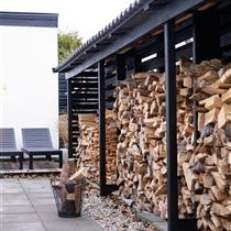 wood storage- so building a shed like this, this year!