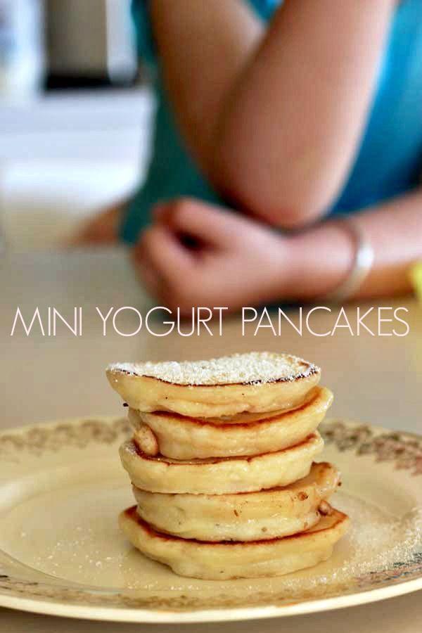Mini Yogurt Pancakes :: The Veggie Mama