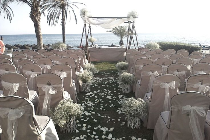 Wedding Ceremony with bambu alter. Estrella del mar Beach club.