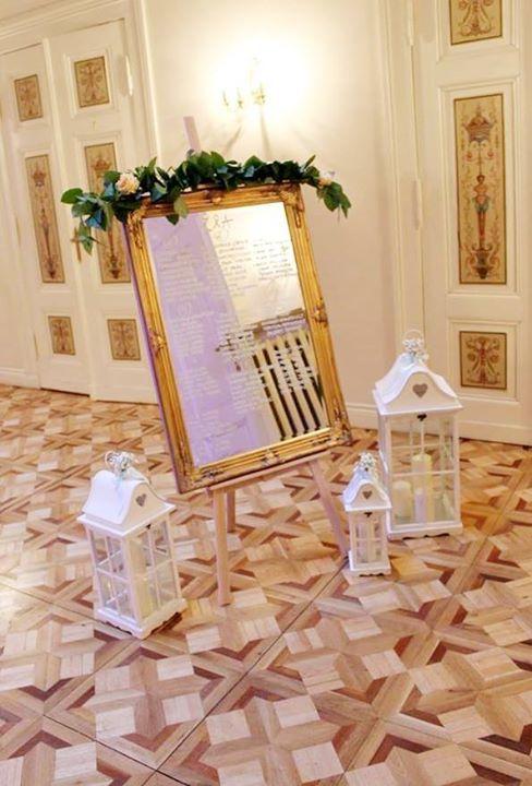 #decoration #wedding #rustic #mirror #gold #vintage